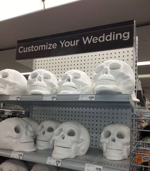 wtf skulls weddings funny - 7840095232