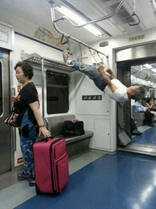 Who needs a gym when we got the MTA?