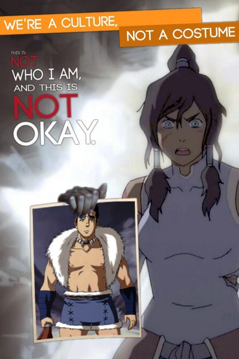 halloween culture not a costume bolin cartoons Avatar korra - 7840382976