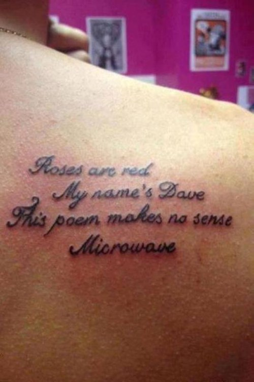 tattoos,funny,poems