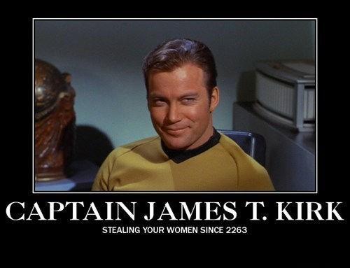 Captain Kirk Star Trek funny women - 7840410368