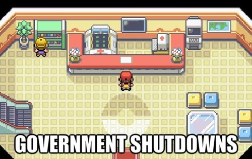 government shutdown Pokémon - 7840532736