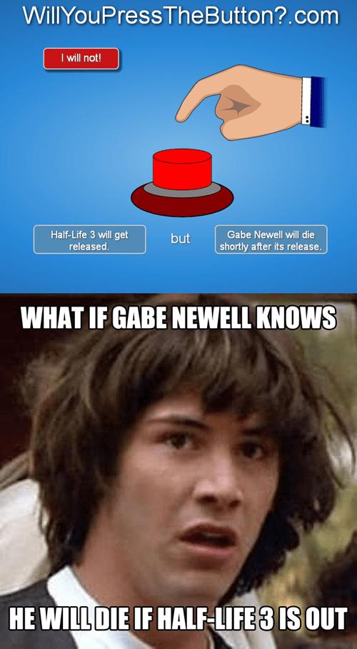 gabe newell half life conspiracy keanu - 7840901376