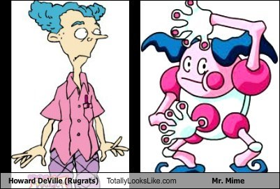 Pokémon,howard deville,mr-mime,totally looks like,rugrats