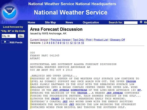 government shutdown NOAA weather weather report monday thru friday g rated