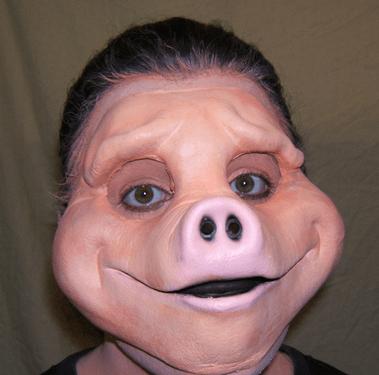 wtf,halloween,masks,pig,funny