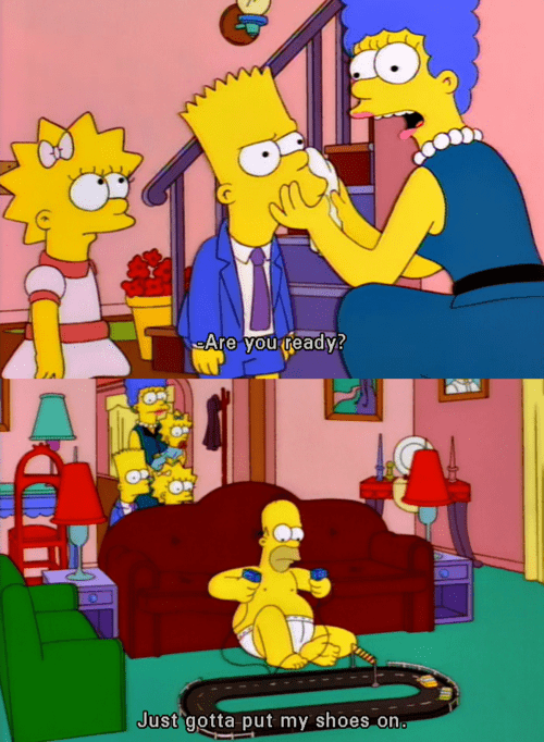 kids,getting ready,parenting,the simpsons
