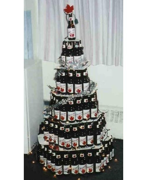 christmas beer tree funny bottles - 7841488128
