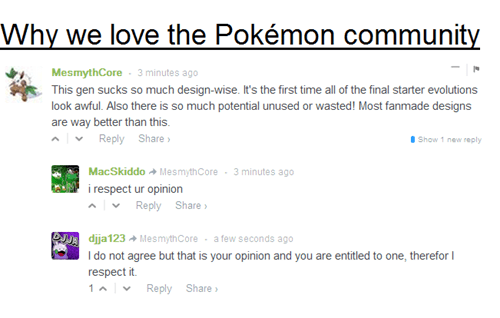 Pokémon,comments,fandom,community