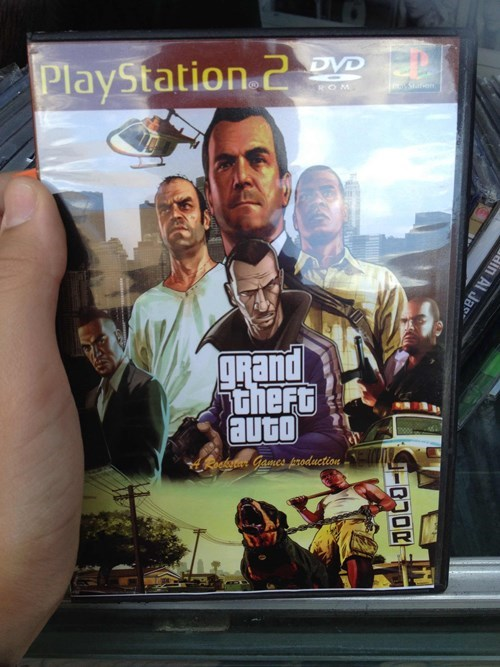 knockoff - Poster - DVD PlayStation 2 OM Son ARand theft auto Roekstrt Gamcs production ein Al Jas IRUOR