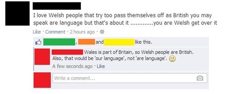 britain Wales welsh sick burn British failbook g rated - 7841636352