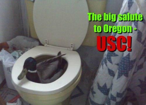 The big salute to Oregon - USC!