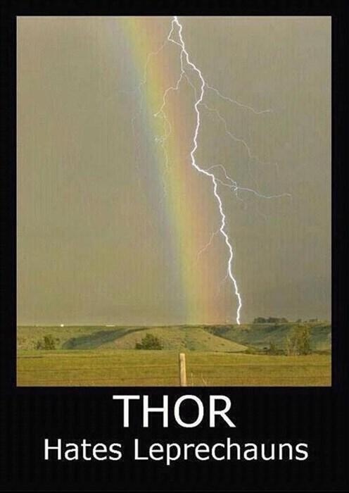 Thor leprechauns lightning funny - 7841756160
