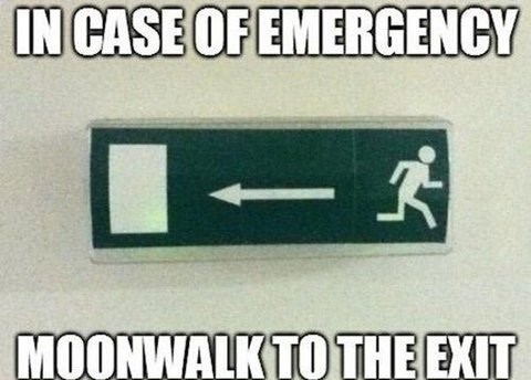 michael jackson moonwalk exit sign monday thru friday g rated - 7841842944