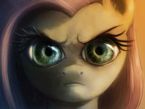 Fan Art stare into my soul fluttershy - 7841931008