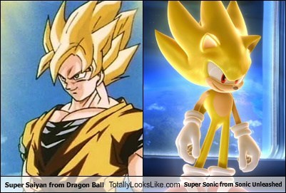 super saiyan,super sonic,Dragon Ball Z,totally looks like,sonic