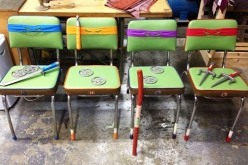 TMNT chairs nerdgasm hacked irl funny - 7841990656