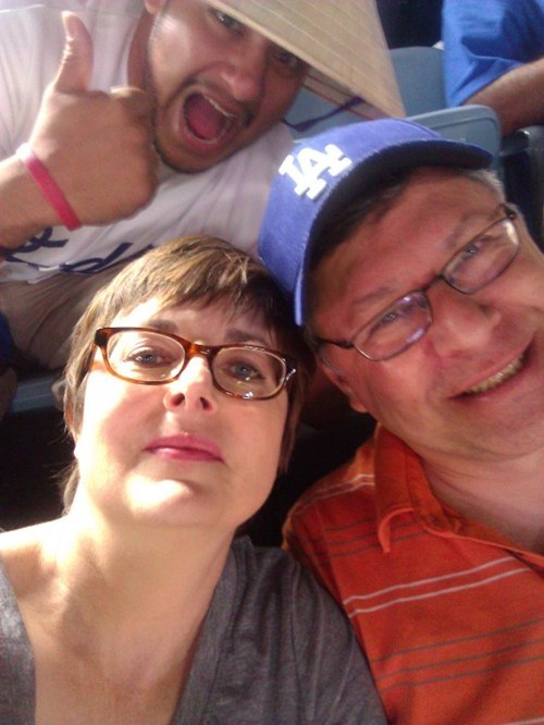 photobomb,baseball games,dodgers,playoffs