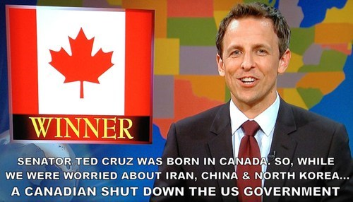government shutdown Canada SNL ted cruz - 7842260480