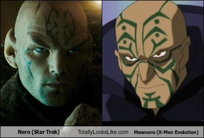 Nero (Star Trek) Totally Looks Like Mesmero (X-Men Evolution)