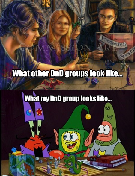SpongeBob SquarePants funny dungeons and dragons
