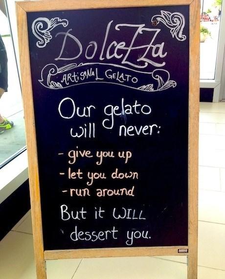 sign,puns,dessert,chalkboard