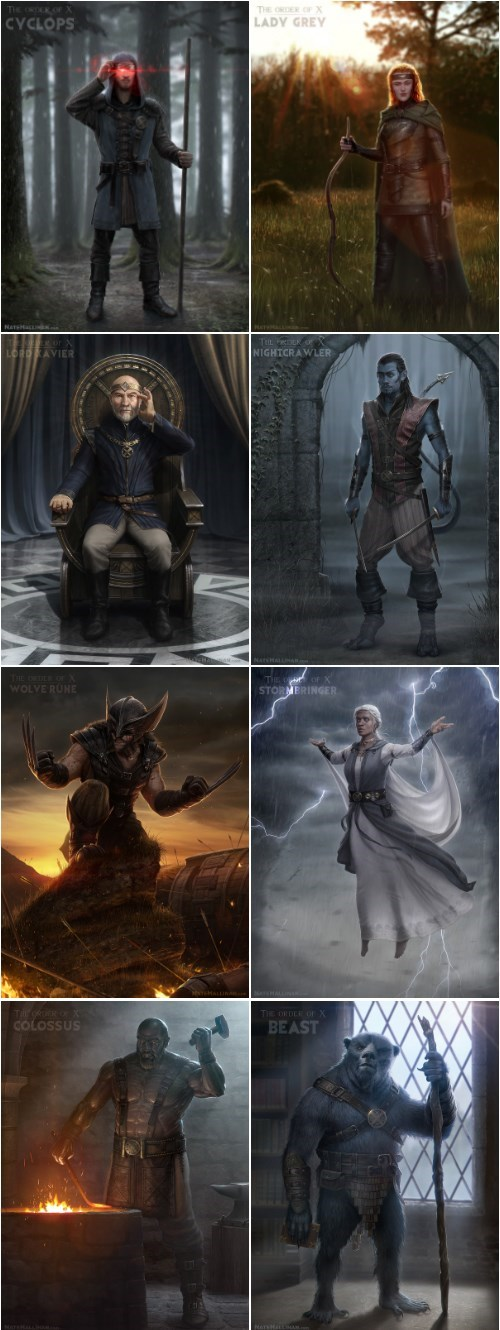 Fan Art storm beast nightcrawler colossus xmen cyclops professor x wolverine jean grey - 7842927872