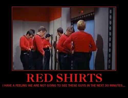 red shirts Star Trek funny