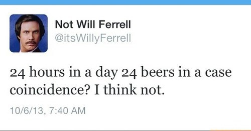 beer,twitter,funny,Will Ferrell