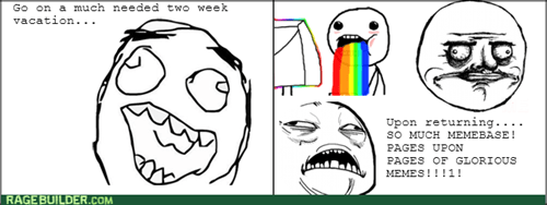 new rage comics me gusta rainbow guy vacation - 7843049984