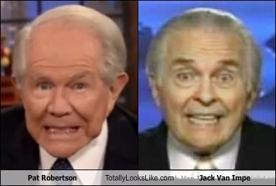 jack van impe totally looks like pat robertson funny - 7843076608