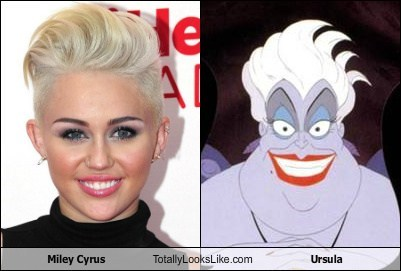 ursula,totally looks like,miley cyrus,funny