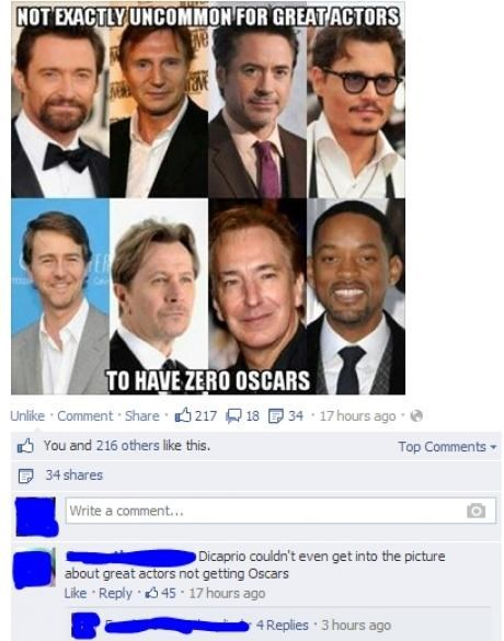 great actors,leonardo dicaprio,oscars,failbook