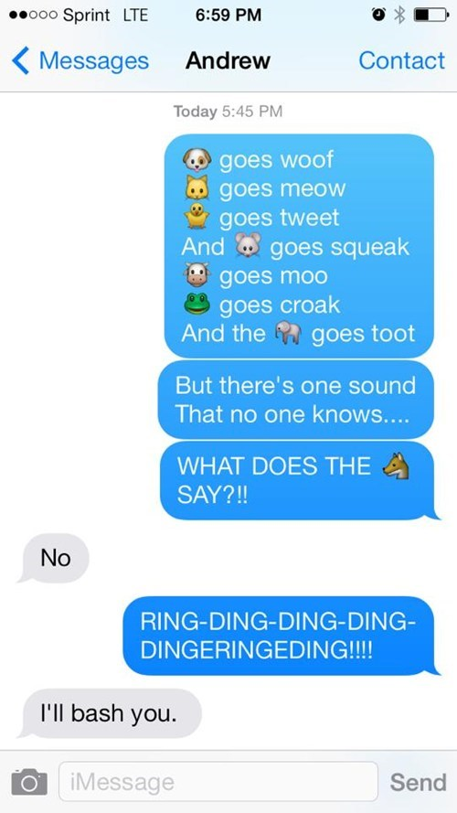 the fox what does the fox say ylvis texting - 7843315968