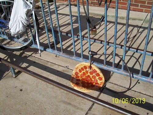 pizza bikes funny thief