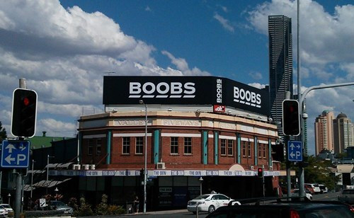 advertising sign lady bits bewbs funny - 7843346688