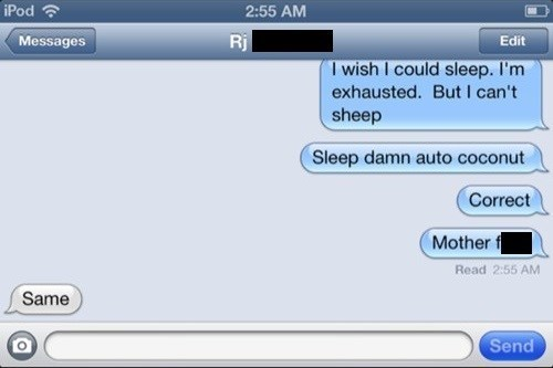 autocorrect text sheep sleep
