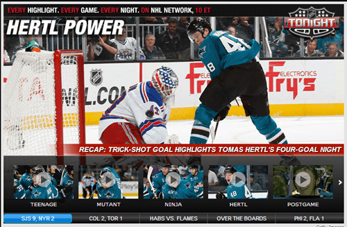hockey NHL san jose sharks headlines hertl monday thru friday g rated