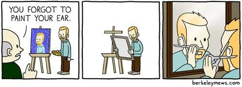 painting funny Vincent van Gogh web comics - 7844548352