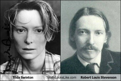 robert louis stevenson,tilda swinton,totally looks like,funny