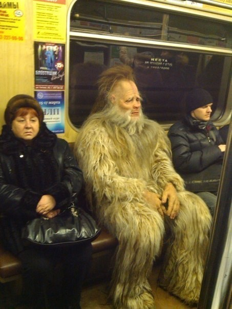 wtf public transportation big foot funny - 7844747520