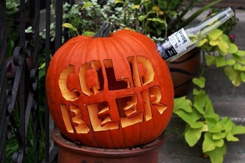 beer pumpkins halloween cold funny - 7844858112