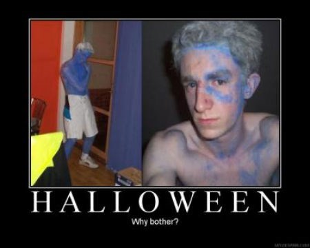 blue paint,costume,smurf,funny