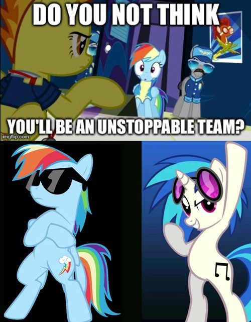 unstoppable vinyl scratch rainbow dash - 7844907008