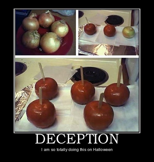 onion halloween carmel apple funny