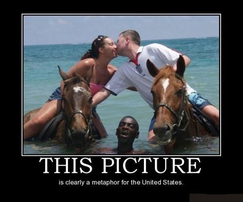 wtf metaphor america racist funny - 7844930048