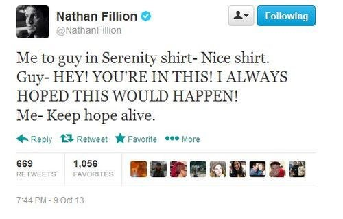 nathan fillion serenity celebrity twitter
