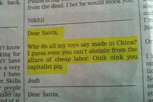 Santa Only Cares About His Margins