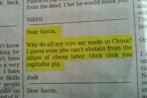 christmas santa newspaper - 7844976896