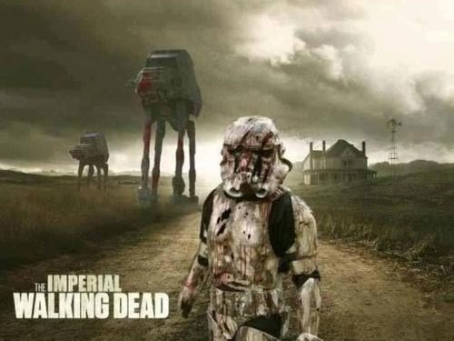 mashup,star wars,stormtrooper,The Walking Dead,at at